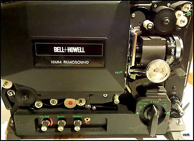 Vintage Eiki Bell and Howell 16mm Model 3585 Filmosound Projector w/ Manual
