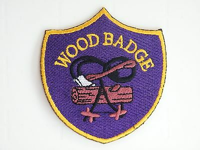 "SCOUT LEADER ""WOOD BADGE"", WOSM International Leader Training Badge, embroidered"