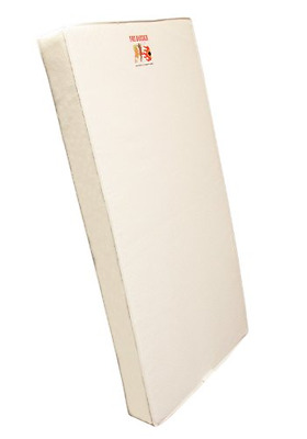 """Dream On Me 6"""" 2 in 1 Foam Core Crib and Toddler Bed Mattress, White"""
