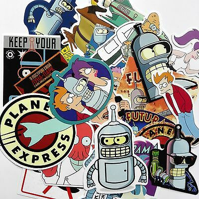 Futurama Stickers 20 pcs Mixed Stickerbomb Bender Planet Express Fry Decal Phone