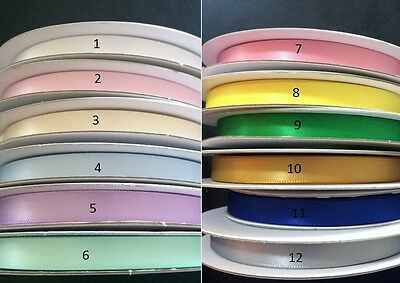 25 Meters 10mm Satin Ribbon Craft Decorations Double Sided Faced NEW 27 Yards