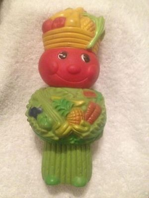 1970's Kraft Vegetable Man Vinyl Advertising Character Vintage Coin Bank