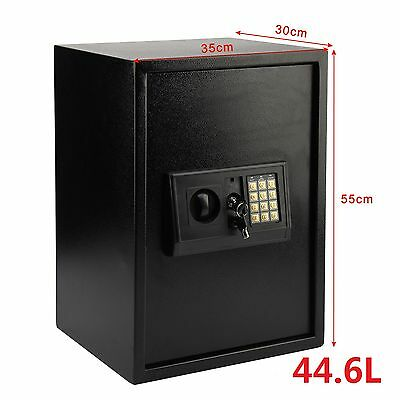 Large Steel Safe Digital Key Electronic Security Home Office Money Safety Box