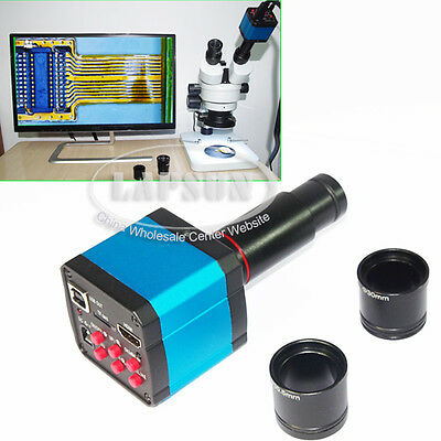 14MP 1080P Industry HDMI USB Microscope Camera w/ Eyepiece Lens Adapter C-Mount