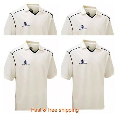 New Men's White Cricket Shirt Top In Uk Large Size