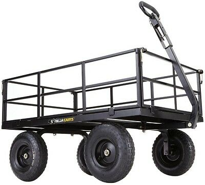 [NEW] Utility Dump Cart Gorilla Carts Heavy-Duty Steel Removable Sides 1,200 lb.