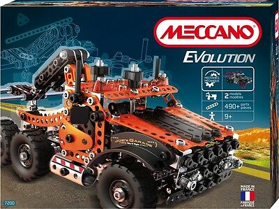 Meccano Tow Truck Tractor Sattelschlepper 2 Modelle 460 Parts from 9 Years
