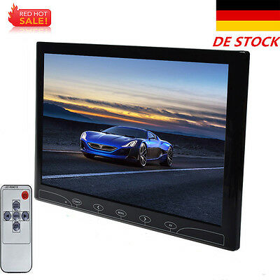 "10"" Ultrathin HD Color CCTV Monitor Touch Screen AV/VGA/HDMI + Speaker DE STOCK"
