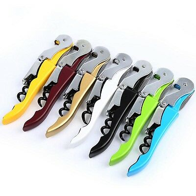 Stainless Steel Cork Screw Corkscrew MultiFunction Wine Bottle Cap Opener OK