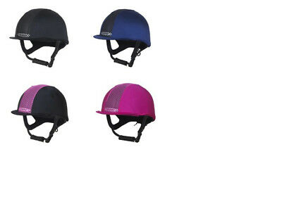 Champion Ventair Skull Cap Hat Cover Lycra BLACK or BLUE + Worldwide Shipping