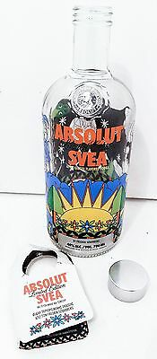Absolut Svea Sweden Soderberg Flavored Vodka City Series Empty Bottle Rare 750Ml