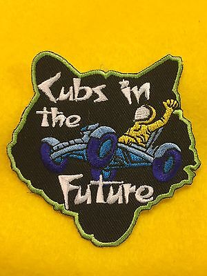 "Boy Scouts - Cub Scout activity patch - ""Cubs in the Future"" theme"