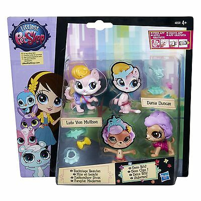 Littlest Pet Shop BACKSTAGE BEAUTIES Pet Pair: Lulu Von Muttson & Dania Duncan