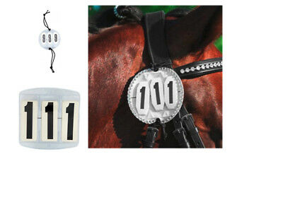 Two Show & Competition Round Bridle Number Start Numbers 3 Digit Sold In Pairs