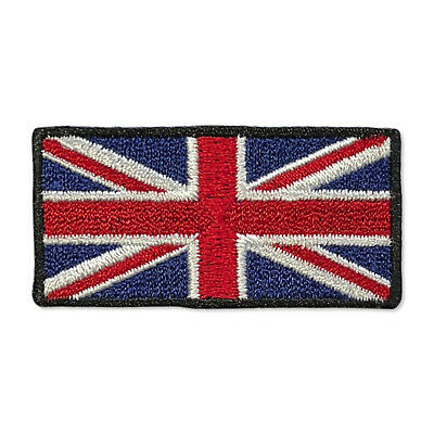 "Embroidered Small 2"" British UK Flag Union Jack Iron on Patch Biker Patch"