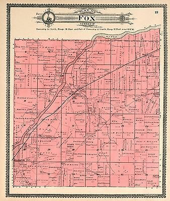 KENDALL COUNTY ILLINOIS 1870 Atlas plat map old GENEALOGY history P54