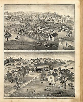1877 SONOMA COUNTY CALIFORNIA old GENEALOGY plat maps Atlas LAND OWNERS DVD P29