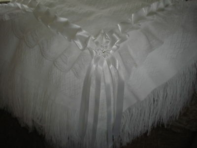 beautiful pure white baby shawl **NEW**