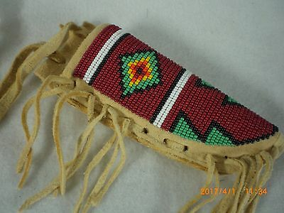 Knife Sheath, Fully Beaded, Neck Style                                        #2
