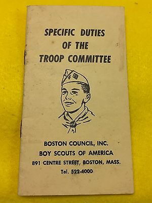 Boy Scouts -  vintage Boston Council, Inc. - Troop Committee booklet