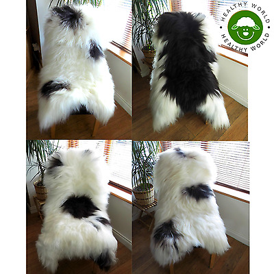 Naturally Spotted GENUINE ICELANDIC SHEEPSKIN RUGS, GIANT