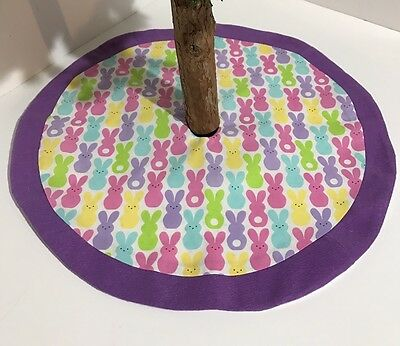 """Easter Tabletop Tree Skirt – 19.5""""  - Peter Cottontail Bunnies – Custom-Made"""