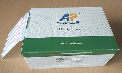 400 Acupuncture Needles AP Super Quality 0.20x13mm with Guide Tubes 200/pk