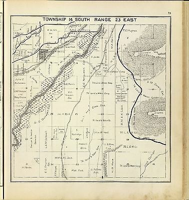 FRESNO COUNTY CALIFORNIA 1891 ATLAS plat maps state GENEALOGY LAND OWNERS DVD P8