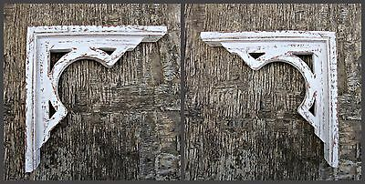 Antique Rustic Victorian Wooden Corbel Shabby Chic Farmhouse Decor  1 x Pair