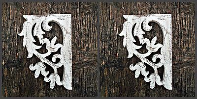 Shabby Chic Farmhouse Decor Victorian Wooden Corbel Brackets Rustic 1 x Pair