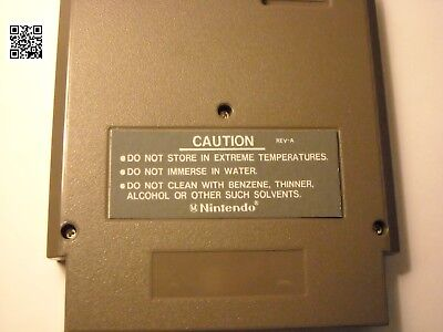 NES Cartridge back replacement labels