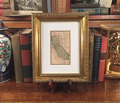 Framed Original 1887 Antique Map CALIFORNIA San Francisco Monterey Napa Sesma CA