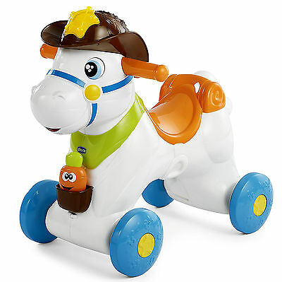 New Chicco Baby Rodeo Rocking Horse Activity Toy With Electronic Activity Centre