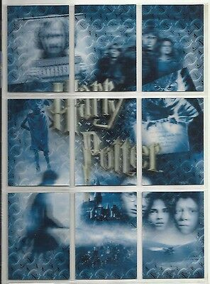 2008 Harry Potter World of 3D Series 2 Complete Set of 9 PUZZLE Cards (PZ1-PZ9)