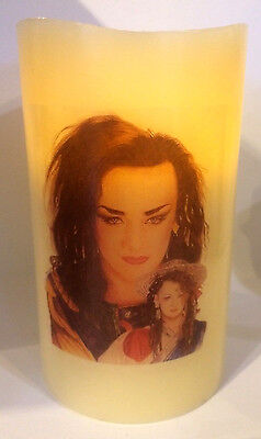 BOY GEORGE ELECTRONIC FLICKERING CANDLE flameless CULTURE CLUB
