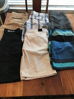 Men's Shorts/Board Shorts Lot Of 7 Pairs Size 32 O'Neill, Quiksilver, Hurley
