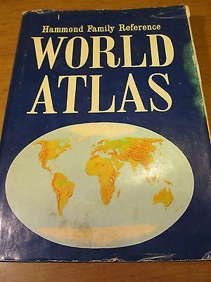 Hammond Family Reference World Atlas 1970 Hardcover