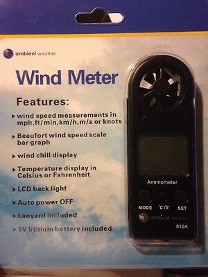 Ambient Weather Hand Held Digital Wind Meter/Anemometer