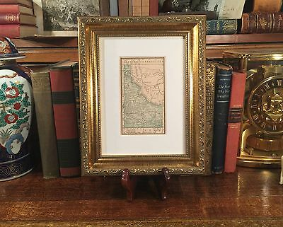Framed Original 1887 Antique Map IDAHO Boise Pocatello Lewiston Silver City ID