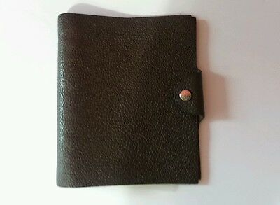Authentic Hermes Brown Leather Ulysse PM Agenda Cover