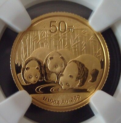 2013 50 Yuan 1/10 Oz 999 Froof Gold Chinese Panda Coin NGC MS70