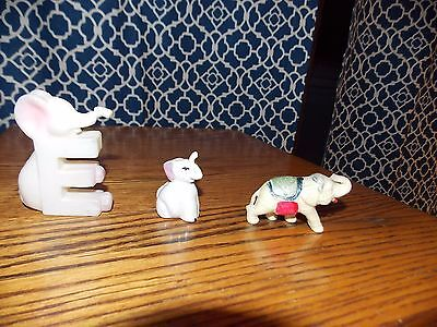 Elephant Collectibles Plastic Alphabet Letter Toothpick Holder Circus Toy