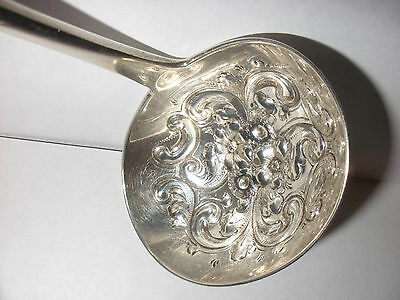 Antique Dominick & Haff Sterling silver repousse bowl hand chased handle ladle