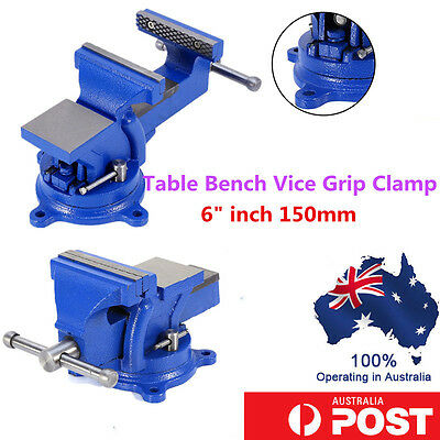 Heavy Duty Steel Mechanic Workshop Table Bench Vice Grip Clamp 3/4/5/6 INCH