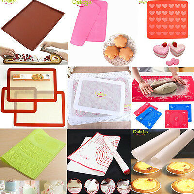 Silicone Baking Mat Non Stick Heat Resistant Liner Oven Sheet Macaron Tools