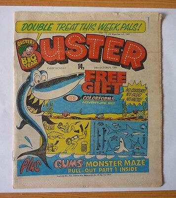 Buster 24 October 1981 Issue - British Weekly - Good Condition