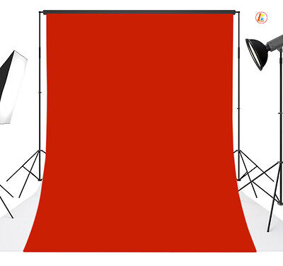 5x10FT Red Solid Vinyl Photography Backdrop Background Studio Photo Props 17
