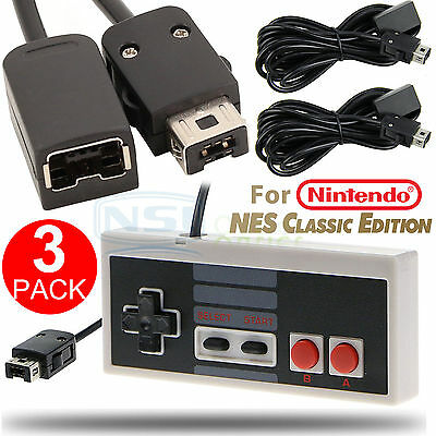 1PC Game Controller 2PCS Extension Cable for Nintendo NES Mini Classic Edition S