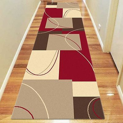 NEW Saray Rugs Art Strung Modern Runner Rug in Red
