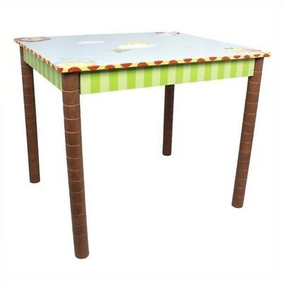 Fantasy Fields Hand Painted Sunny Safari Table Wood Kids Tables